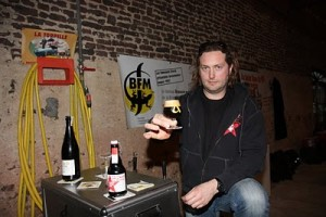 Jerome Rebetez of BFM. (Photo courtesy of Chuck Cook, belgianbeerspecialist.blogspot.com)