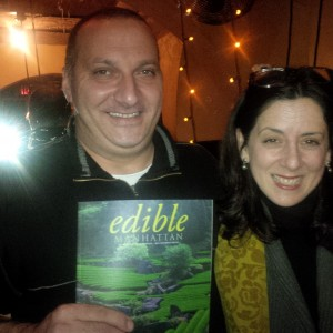Gilbert Clerget of Washington D.C., winner of the 2014 Cassoulet Cookoff, with judge Amy Zavatto of Edible Magazine.